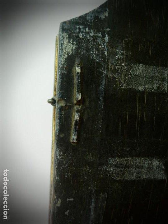 Arte: TRIPTICO DE MADERA VISAGRAS CON ARGOLLA. MUY BONITO 40 X 51 - Foto 7 - 193637512