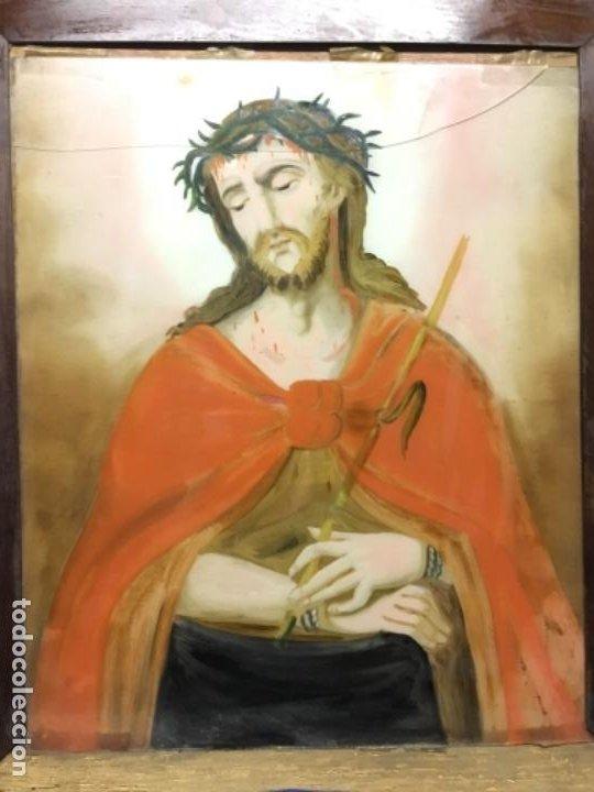 Arte: (MV) CRISTAL PINTADO RELIGIOSO S.XVIII / XIX, VER FOTOGRAFIAS - Foto 8 - 193702440