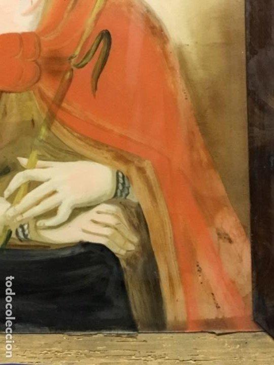 Arte: (MV) CRISTAL PINTADO RELIGIOSO S.XVIII / XIX, VER FOTOGRAFIAS - Foto 3 - 193702440
