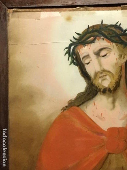 Arte: (MV) CRISTAL PINTADO RELIGIOSO S.XVIII / XIX, VER FOTOGRAFIAS - Foto 5 - 193702440