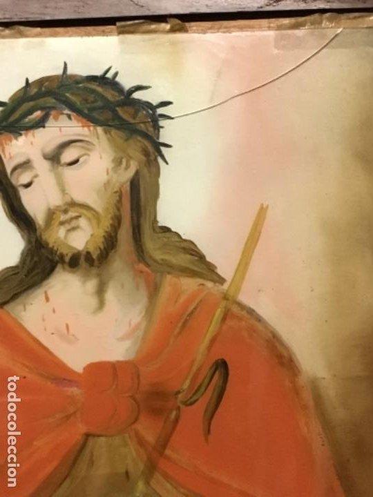 Arte: (MV) CRISTAL PINTADO RELIGIOSO S.XVIII / XIX, VER FOTOGRAFIAS - Foto 6 - 193702440