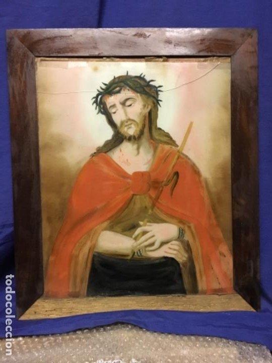 Arte: (MV) CRISTAL PINTADO RELIGIOSO S.XVIII / XIX, VER FOTOGRAFIAS - Foto 7 - 193702440