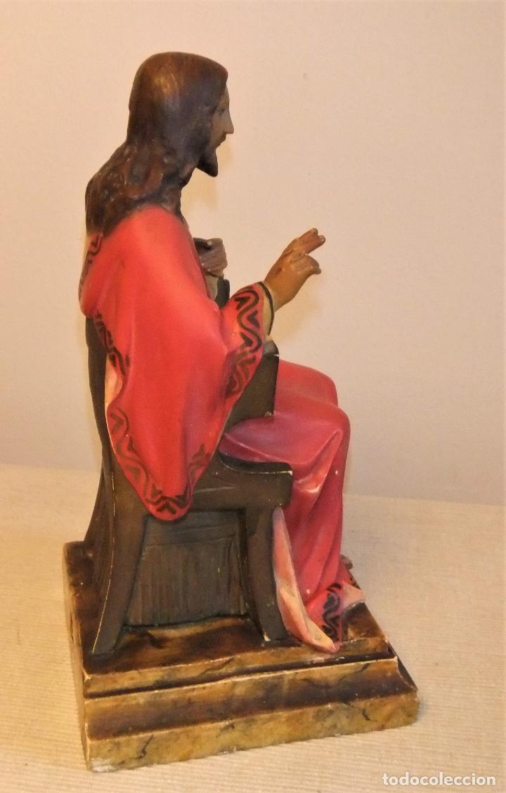 Arte: FIGURA DEL SAGRADO CORAZÓN DE JESÚS EN EL TRONO DE PEDRO LLORET OLOT - Foto 5 - 193705963