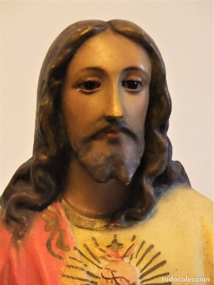 Arte: FIGURA DEL SAGRADO CORAZÓN DE JESÚS EN EL TRONO DE PEDRO LLORET OLOT - Foto 7 - 193705963