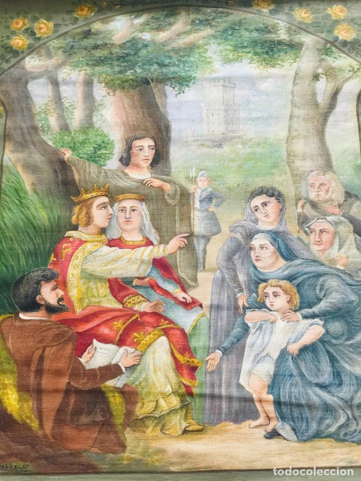 Arte: ESCENA BIBLICA. TAPIZ PINTADO AL ÓLEO. PRINCIPIOS SIGLO XX. FIRMADO. - Foto 2 - 193715026