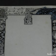 Arte: (M) DIBUJO ORIGINAL GOZO DE MONTSERRAT - LLAVERIAS???, 35X49,5 CM, SEÑALES DE USO NORMALES. Lote 193727141