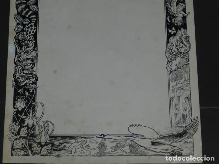 Arte: (M) DIBUJO ORIGINAL GOZO DE MONTSERRAT - LLAVERIAS???, 35X49,5 CM, SEÑALES DE USO NORMALES - Foto 3 - 193727141