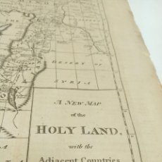 Arte: GRABADO RELIGIOSO. FAMILY BIBLE. R. DR. BUTLER'S. A NEW MAP OF THE HOLY LAND...1794. 37,5 X 24.. Lote 193732277