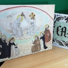 Arte: CUADRO AL OLEO CREO RELIGIOSO, MUY BOTIT0, LA CORONACION DE LA VIRGEN MARIA. Lote 193821096
