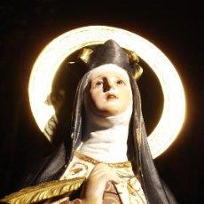 Arte: SANTA TERESA DE JESUS DORADO AL ORO FINO EL ARTE CRISTIANO. Lote 193879825