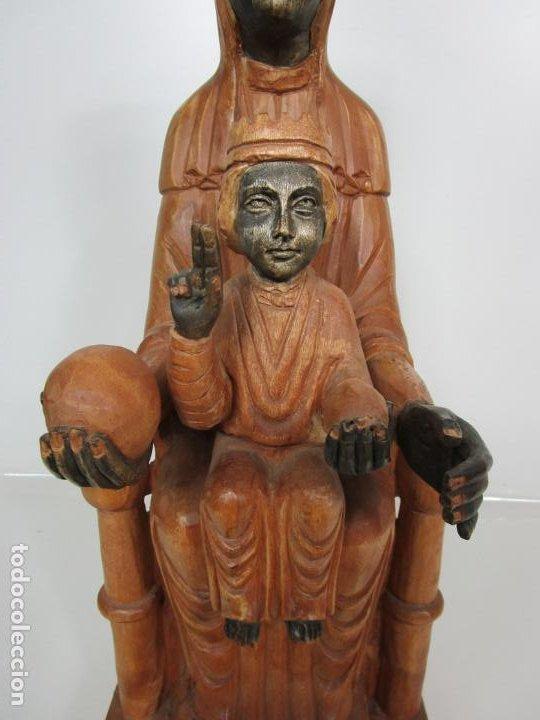 Arte: Bonita Virgen de Montserrat - Talla de Madera Policromada - 62 cm Altura - Foto 5 - 193880075