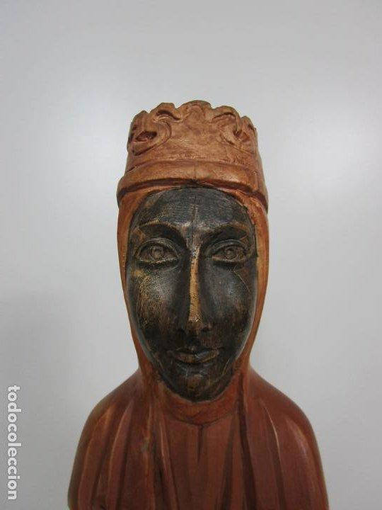 Arte: Bonita Virgen de Montserrat - Talla de Madera Policromada - 62 cm Altura - Foto 6 - 193880075