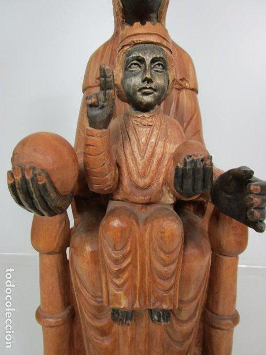 Arte: Bonita Virgen de Montserrat - Talla de Madera Policromada - 62 cm Altura - Foto 7 - 193880075