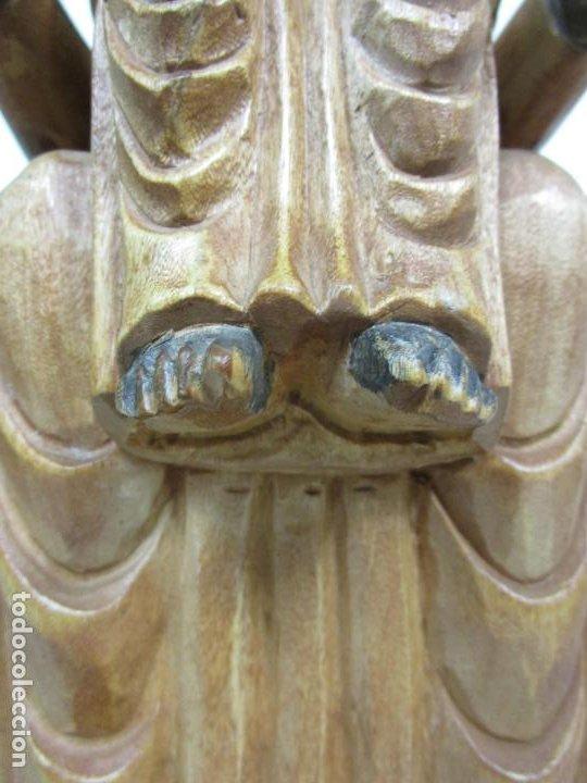 Arte: Bonita Virgen de Montserrat - Talla de Madera Policromada - 62 cm Altura - Foto 8 - 193880075