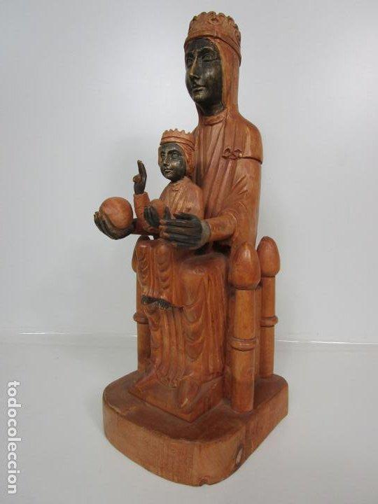 Arte: Bonita Virgen de Montserrat - Talla de Madera Policromada - 62 cm Altura - Foto 11 - 193880075