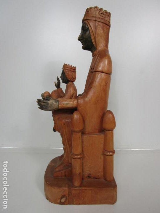 Arte: Bonita Virgen de Montserrat - Talla de Madera Policromada - 62 cm Altura - Foto 12 - 193880075