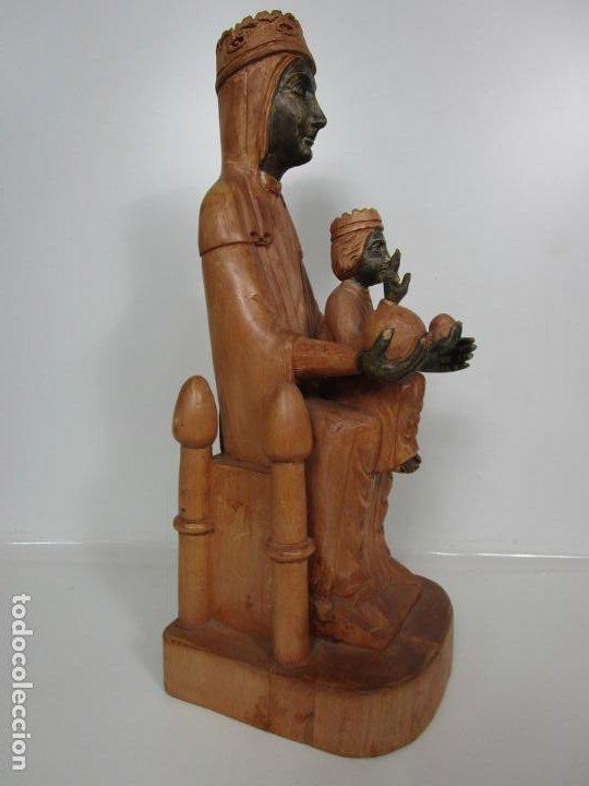 Arte: Bonita Virgen de Montserrat - Talla de Madera Policromada - 62 cm Altura - Foto 14 - 193880075