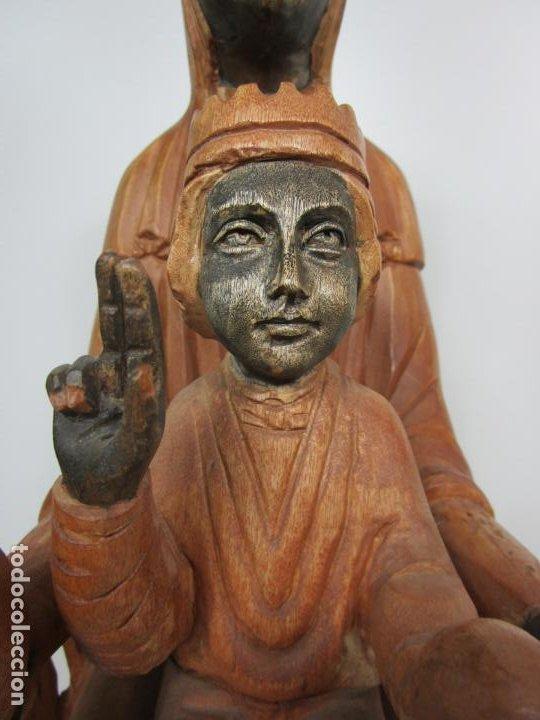 Arte: Bonita Virgen de Montserrat - Talla de Madera Policromada - 62 cm Altura - Foto 15 - 193880075