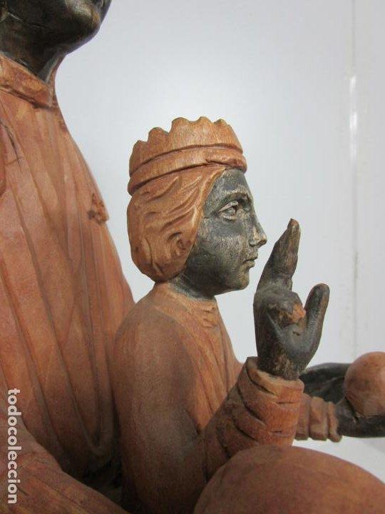 Arte: Bonita Virgen de Montserrat - Talla de Madera Policromada - 62 cm Altura - Foto 16 - 193880075