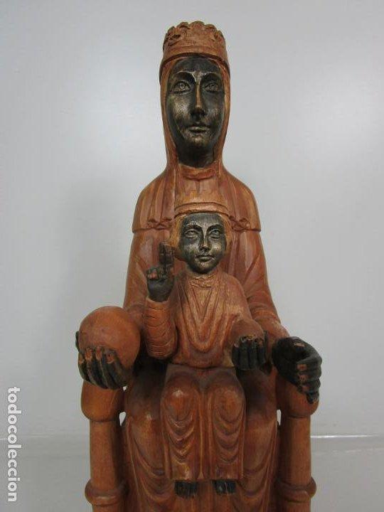 Arte: Bonita Virgen de Montserrat - Talla de Madera Policromada - 62 cm Altura - Foto 18 - 193880075