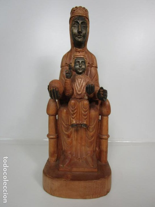 Arte: Bonita Virgen de Montserrat - Talla de Madera Policromada - 62 cm Altura - Foto 19 - 193880075