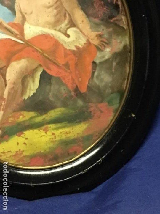 Arte: (MT) CRISTAL PINTADO RELIGIOSO S.XVIII / S.XIX ORIGINAL - Foto 5 - 193901098