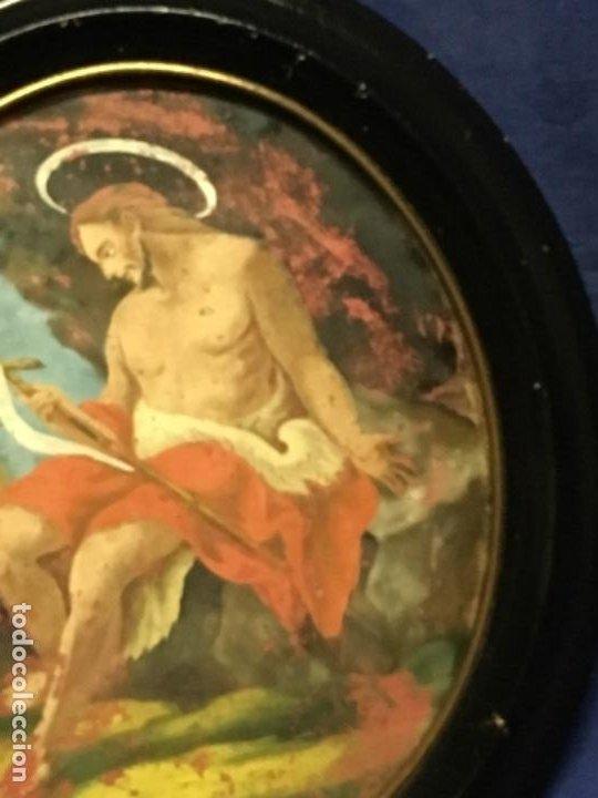 Arte: (MT) CRISTAL PINTADO RELIGIOSO S.XVIII / S.XIX ORIGINAL - Foto 6 - 193901098