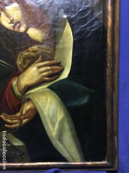 Arte: (MT) ANTIGUO OLEO RELIGIOSO LA DOLOROSA S.XIX - ENMARCADO - Foto 4 - 193902722