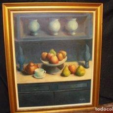 Arte: COMPOSICIÓN-OLEO,(VACIADO CASA) 98X118, PINTURA 81X101, FIRMADO AÑO 1970. Lote 193946692