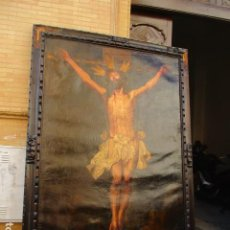 Arte: OLEO SOBRE LIENZO CRISTO DE LA EXPIRACION (EL CACHORRO) JOSE MACIAS. Lote 193960633