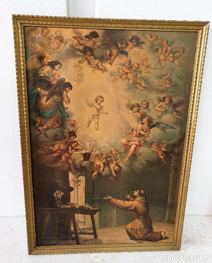 ANTIGUO CUADRO RELIGIOSO (Arte - Arte Religioso - Pintura Religiosa - Oleo)