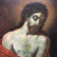 Arte: (MT) OLEO ANTIGUO RELIGIOSO S.XIX SIN FIRMAR, ENMARCADO DE ÉPOCA . Lote 193994932