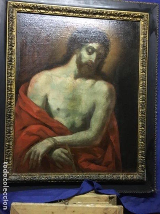 Arte: (MT) OLEO ANTIGUO RELIGIOSO S.XIX SIN FIRMAR, ENMARCADO DE ÉPOCA - Foto 2 - 193994932