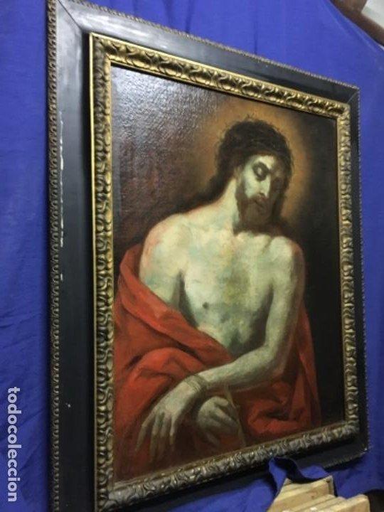 Arte: (MT) OLEO ANTIGUO RELIGIOSO S.XIX SIN FIRMAR, ENMARCADO DE ÉPOCA - Foto 3 - 193994932
