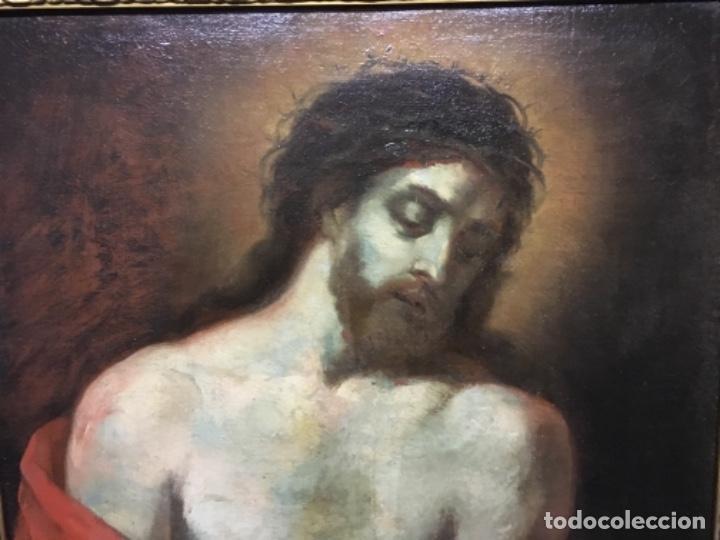 Arte: (MT) OLEO ANTIGUO RELIGIOSO S.XIX SIN FIRMAR, ENMARCADO DE ÉPOCA - Foto 4 - 193994932