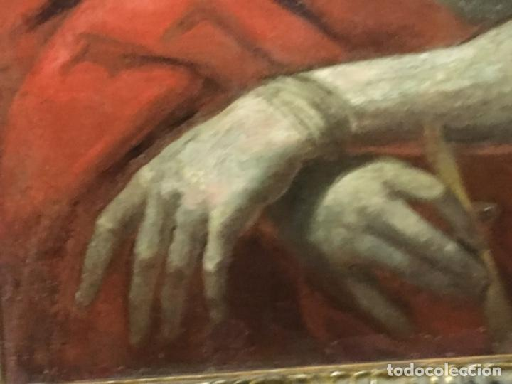 Arte: (MT) OLEO ANTIGUO RELIGIOSO S.XIX SIN FIRMAR, ENMARCADO DE ÉPOCA - Foto 6 - 193994932