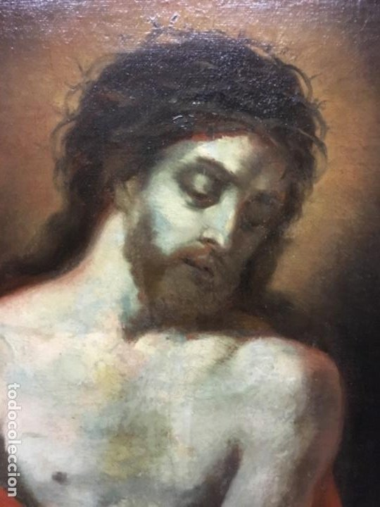 Arte: (MT) OLEO ANTIGUO RELIGIOSO S.XIX SIN FIRMAR, ENMARCADO DE ÉPOCA - Foto 11 - 193994932