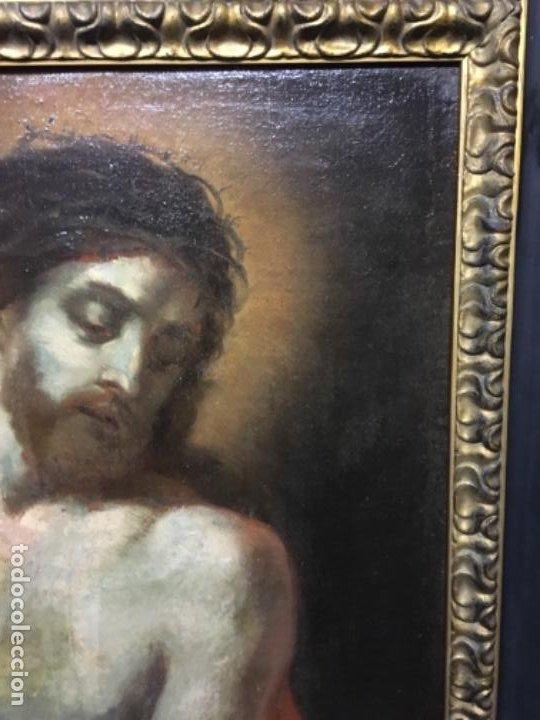 Arte: (MT) OLEO ANTIGUO RELIGIOSO S.XIX SIN FIRMAR, ENMARCADO DE ÉPOCA - Foto 12 - 193994932