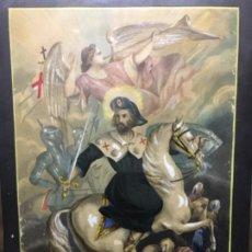 Arte: (MT) ACUARELA DE SANT JAIME AÑO 1879, DIBUJANDO POR FRANCISCO SITJAS. Lote 193995950