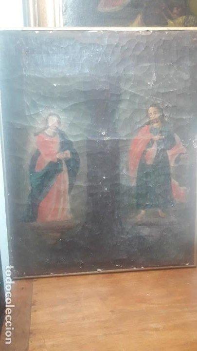 SAN JUAN Y LA VIRGEN SIGLO XVIII (Arte - Arte Religioso - Pintura Religiosa - Oleo)