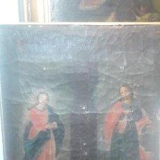 Arte: SAN JUAN Y LA VIRGEN SIGLO XVIII . Lote 194105907