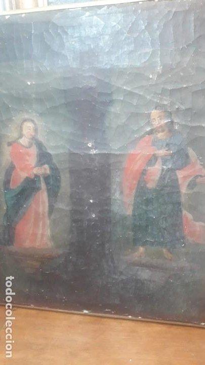 Arte: San juan y la virgen siglo XVIII - Foto 2 - 194105907
