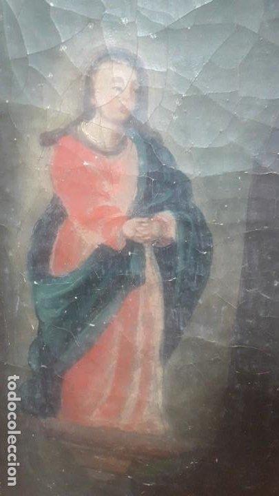 Arte: San juan y la virgen siglo XVIII - Foto 3 - 194105907