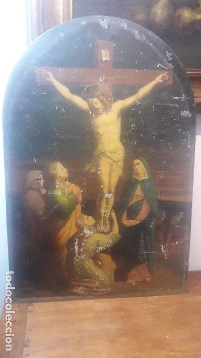 CALVARIO CHAPA SIGLO XIX (Arte - Arte Religioso - Pintura Religiosa - Oleo)