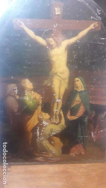 Arte: Calvario chapa siglo XIX - Foto 2 - 194106491