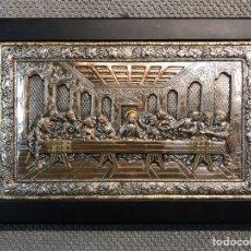 "Arte: SANTA CENA, HERMOSO ICONO BIZANTINO, DE LA PRESTIGIOSA CASA CLARTE, EN ARGENTO 925"". Lote 194134835"
