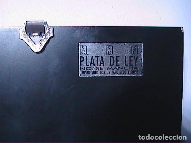 Arte: EXCELENTE ICONO BIZANTINO DE LA VIRGEN DE IVER / IVERIA EN PLATA DE LEY. - Foto 5 - 194157436