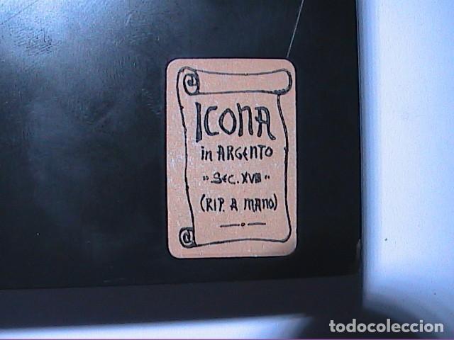 Arte: EXCELENTE ICONO BIZANTINO DE LA VIRGEN DE IVER / IVERIA EN PLATA DE LEY. - Foto 6 - 194157436