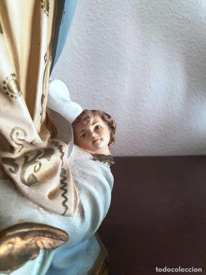 Arte: Antigua, muy bella y bien conservada Virgen Inmaculada de estuco de Olot. - Foto 11 - 194185626