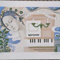 Arte: LITOGRAFIA FRANCESC VILASIS-CAPALLEJA BEETHOVEN I - NUMERADA P/A XIX/XXV PRUEBA AUTOR (19/25) / C-20. Lote 194217878